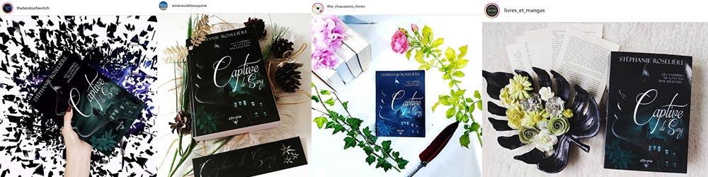 photos instagram du roman Captive de Sang de Stéphanie Roselière