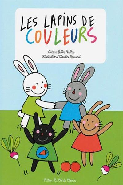 """livre """"les lapins de couleur"""" sur l'importance de l""""entraide et du partage"""