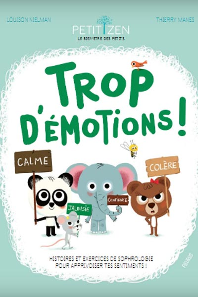 """livre pour enfants """"trop d'émotions"""" inspiré par la sophrologie"""